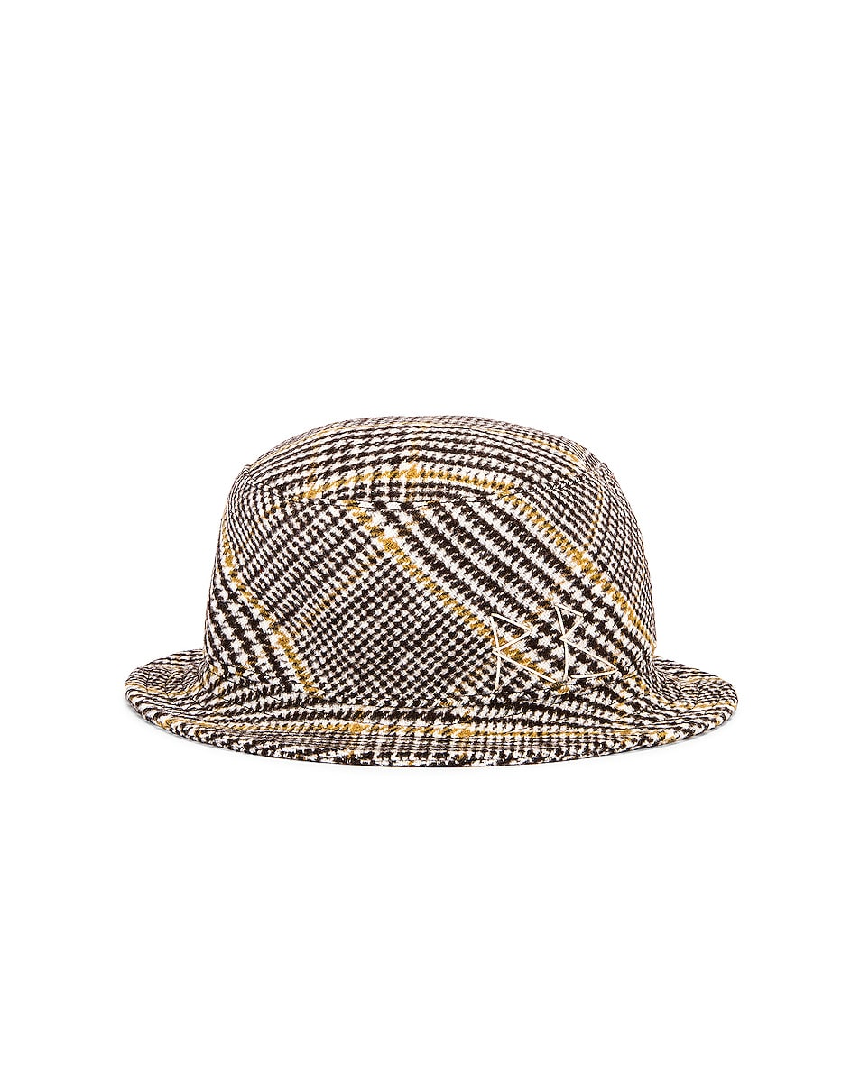 Image 1 of Ruslan Baginskiy Wool Plaid Bucket Hat in Multicolored