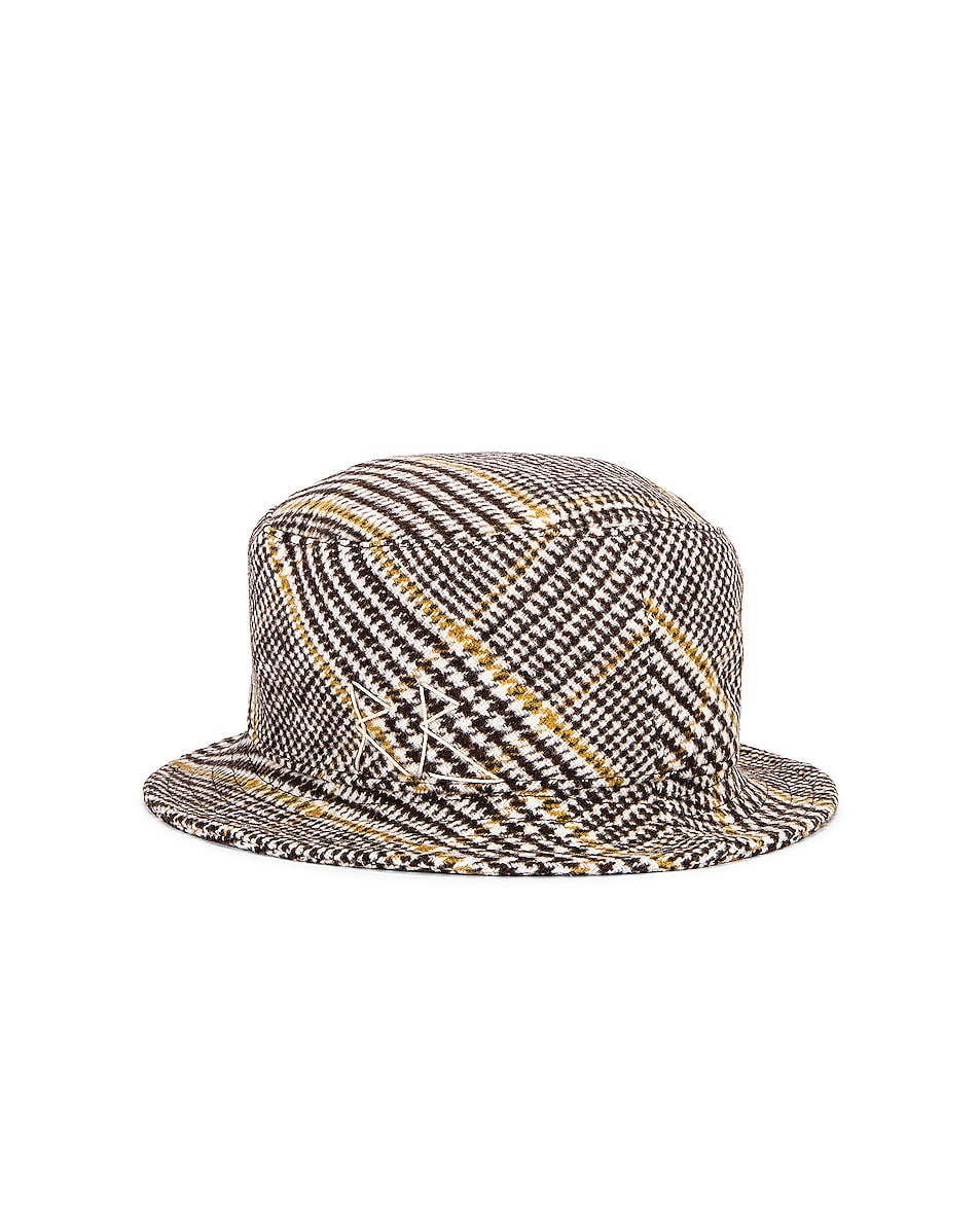 Image 2 of Ruslan Baginskiy Wool Plaid Bucket Hat in Multicolored