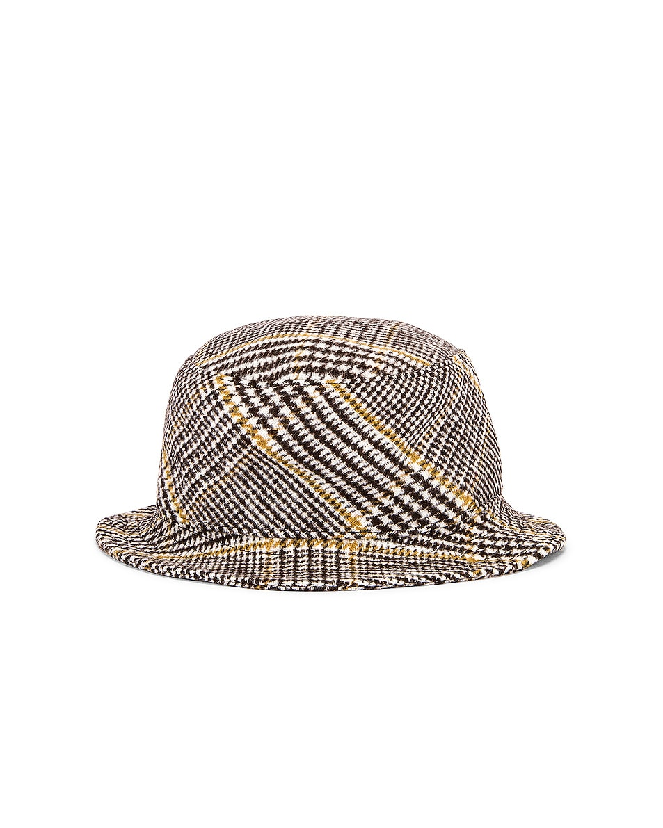 Image 4 of Ruslan Baginskiy Wool Plaid Bucket Hat in Multicolored