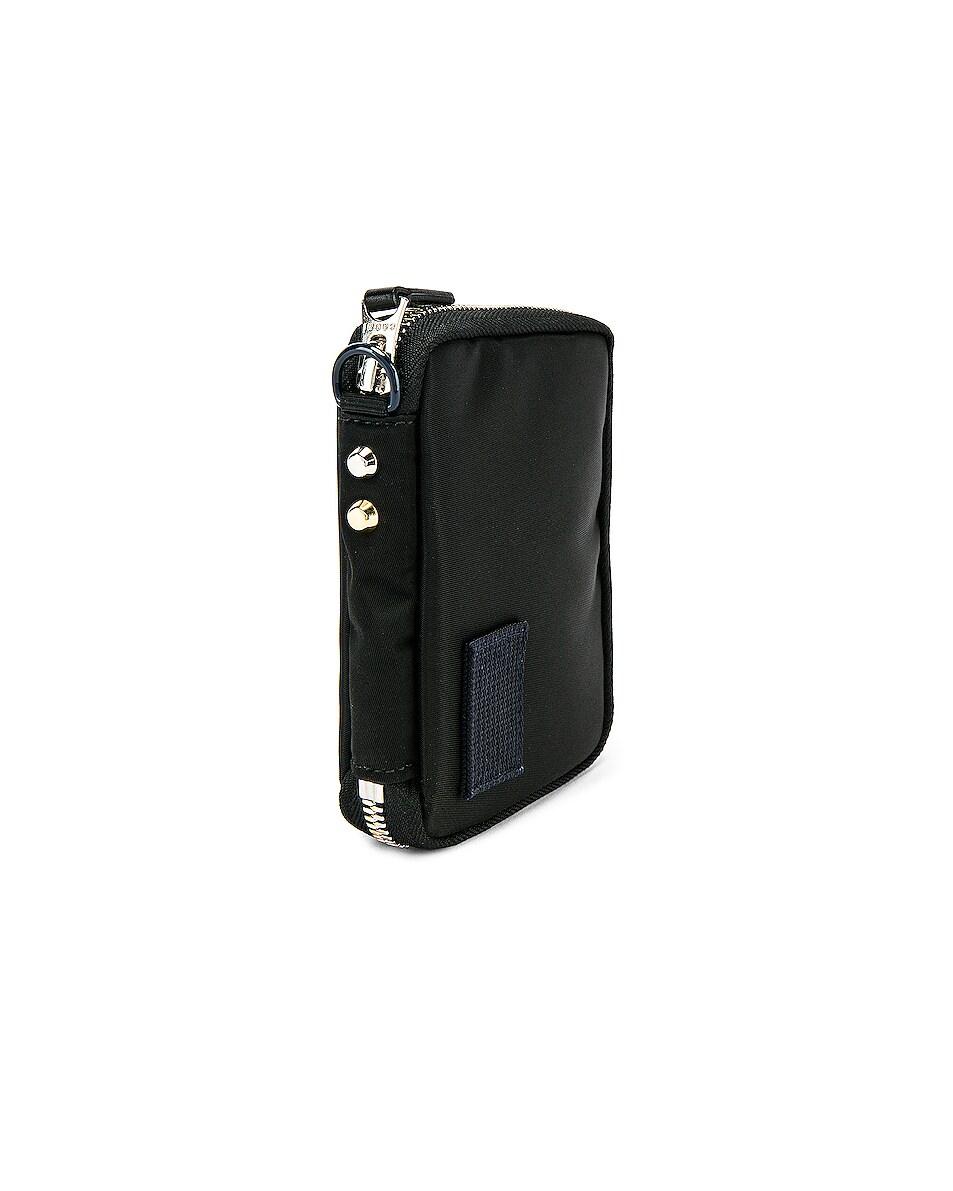 Image 3 of Sacai Nylon Medium Wallet in Black