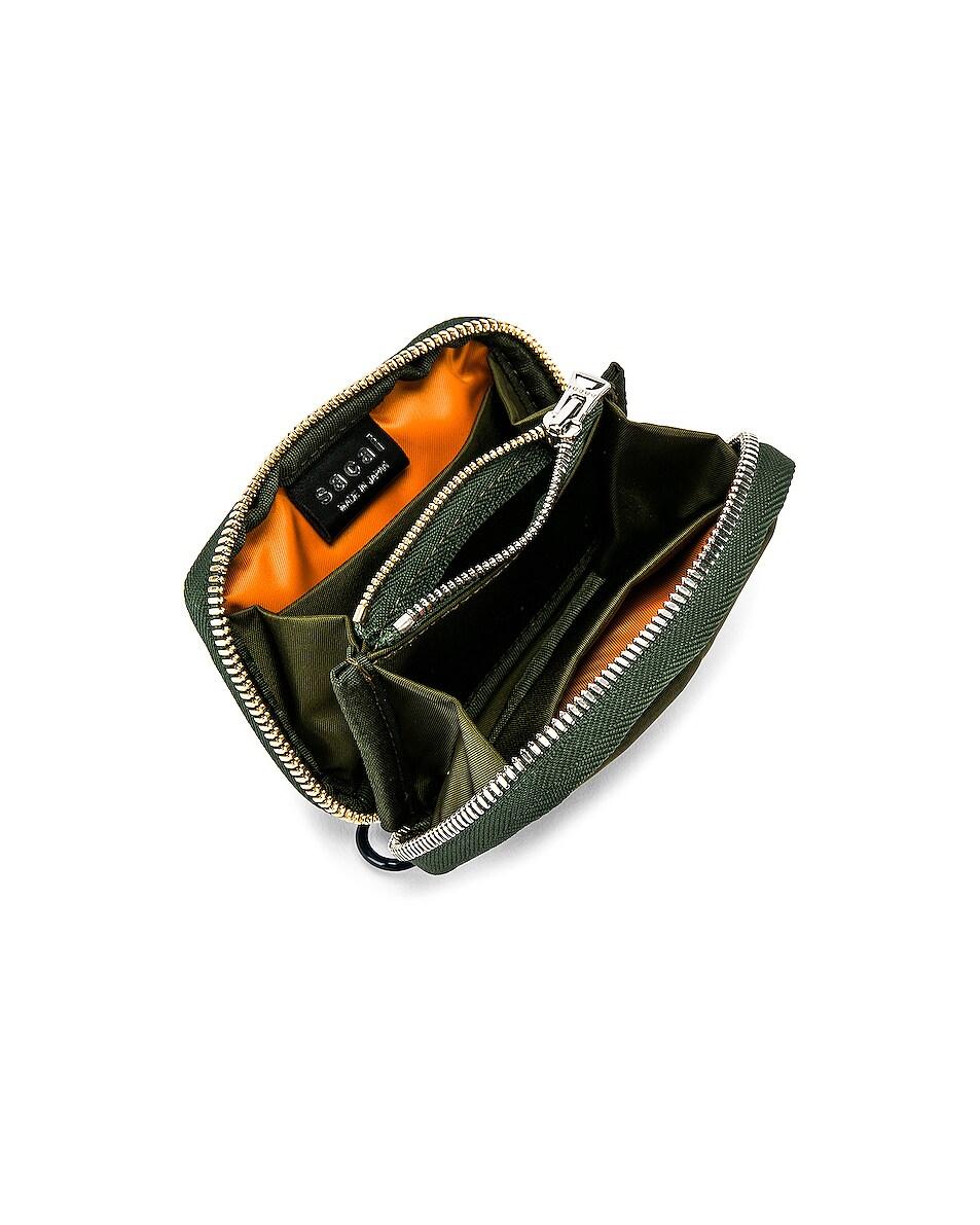Image 4 of Sacai Nylon Small Wallet in Khaki