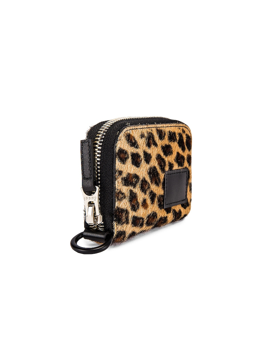 Image 3 of Sacai Leopard Wallet in Leopard