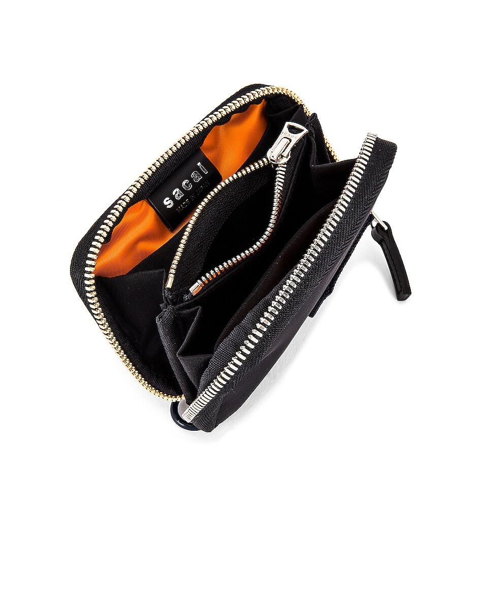 Image 4 of Sacai Nylon Wallet in Black