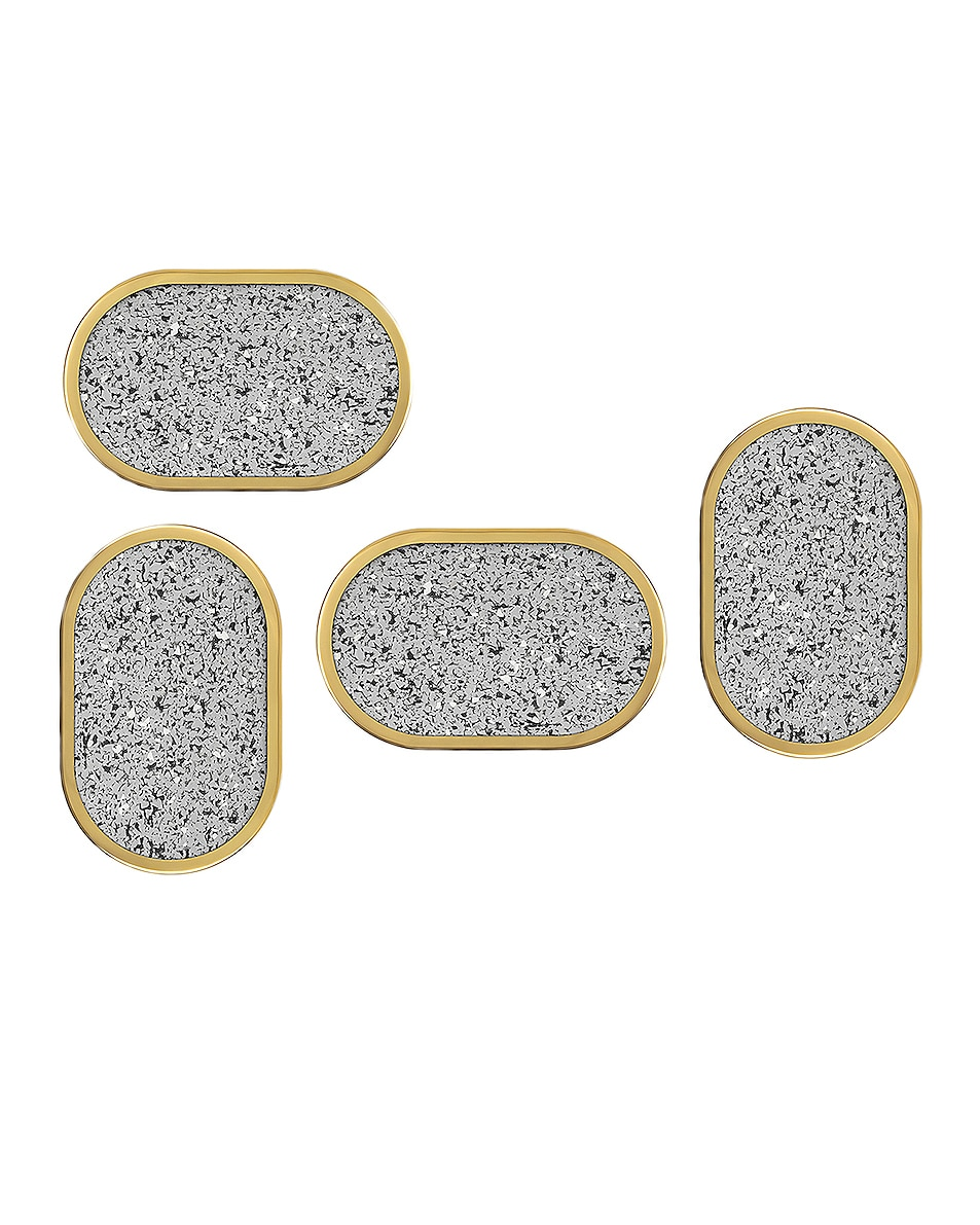 Image 1 of Slash Objects Rubber Ring Set of 4 Coasters in Gris
