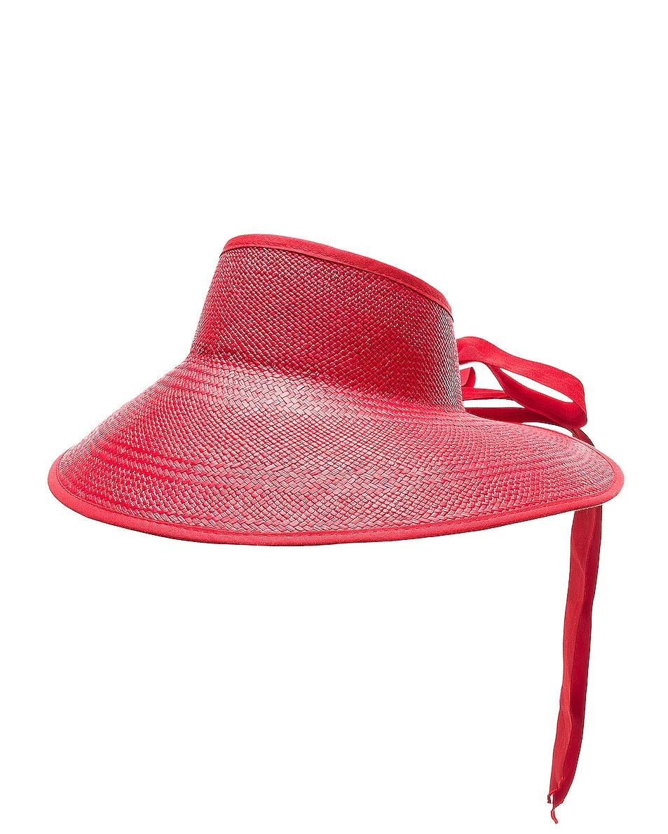 Image 3 of SENSI STUDIO Long Brim Visor in Red
