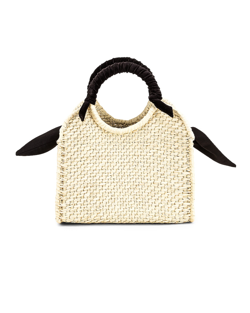 Image 1 of SENSI STUDIO Midi Handbag With Velvet Detail in Natural