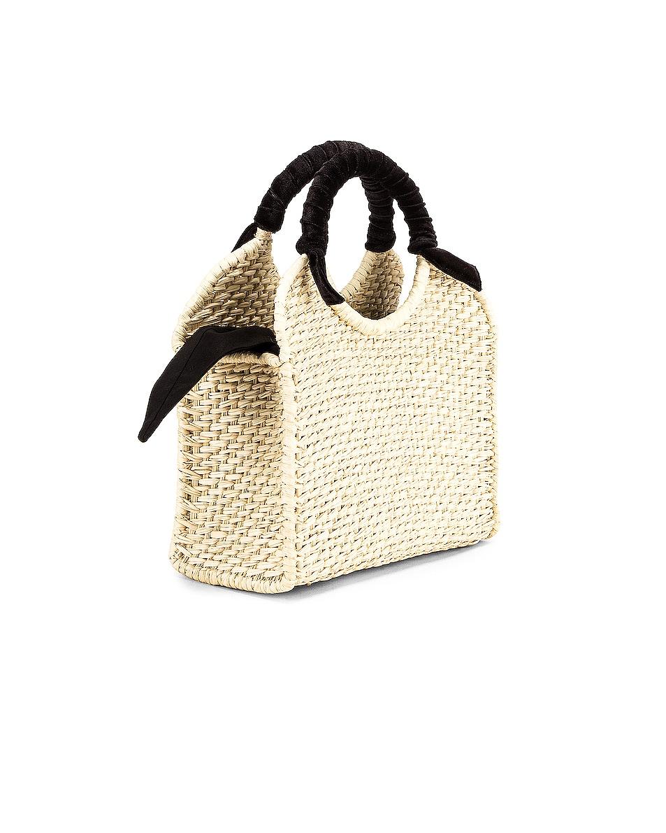 Image 4 of SENSI STUDIO Midi Handbag With Velvet Detail in Natural