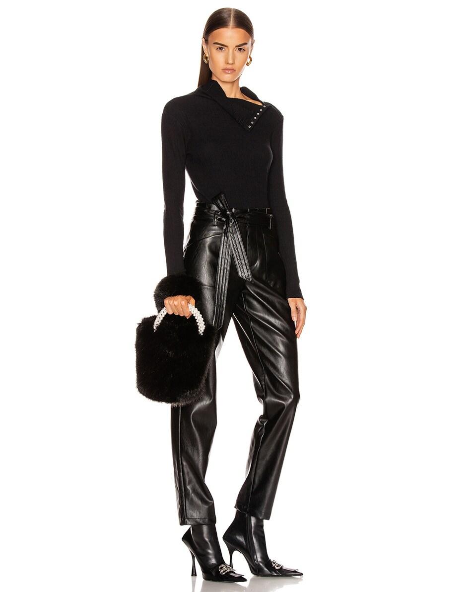 Image 2 of Shrimps Eva Faux Fur Bag in Black