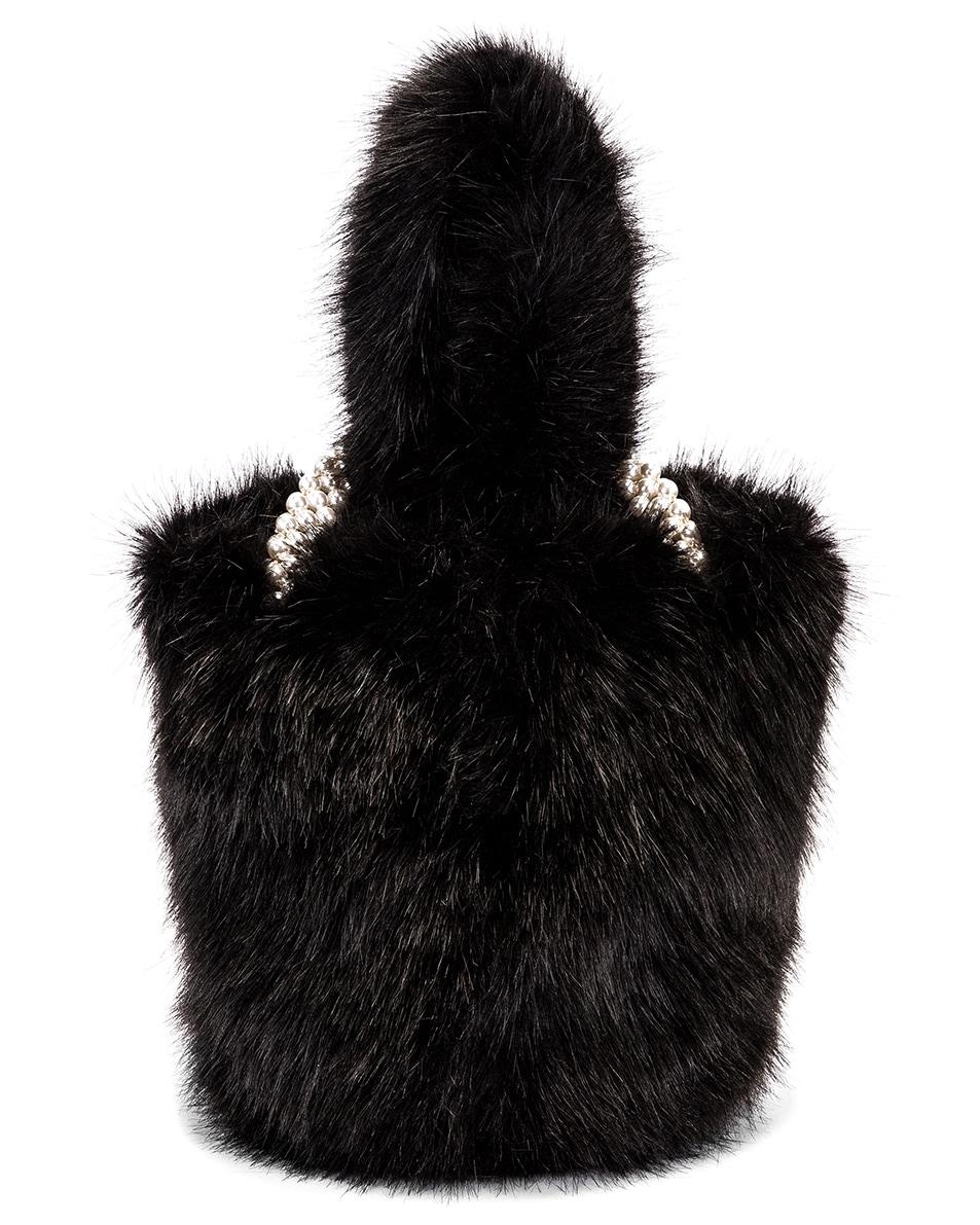 Image 3 of Shrimps Eva Faux Fur Bag in Black