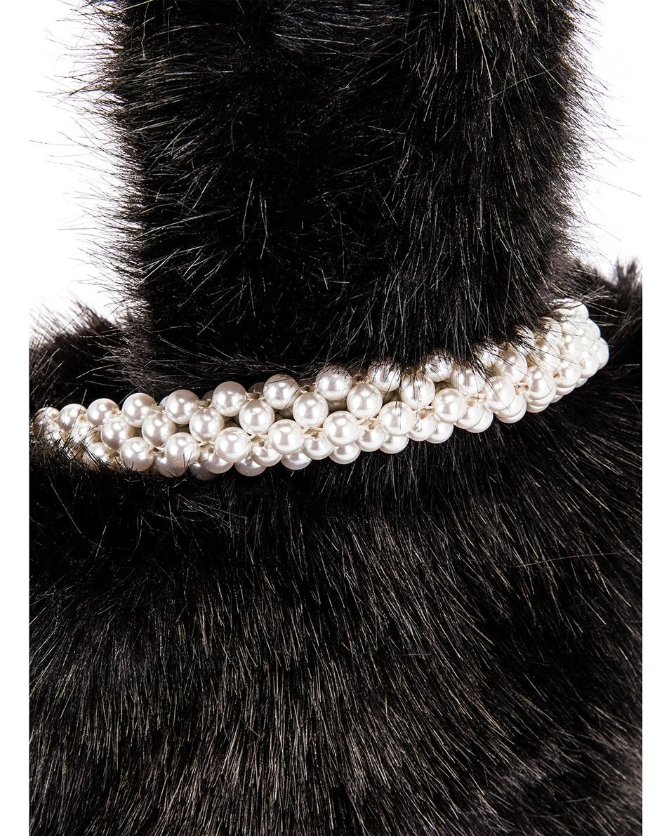 Image 7 of Shrimps Eva Faux Fur Bag in Black