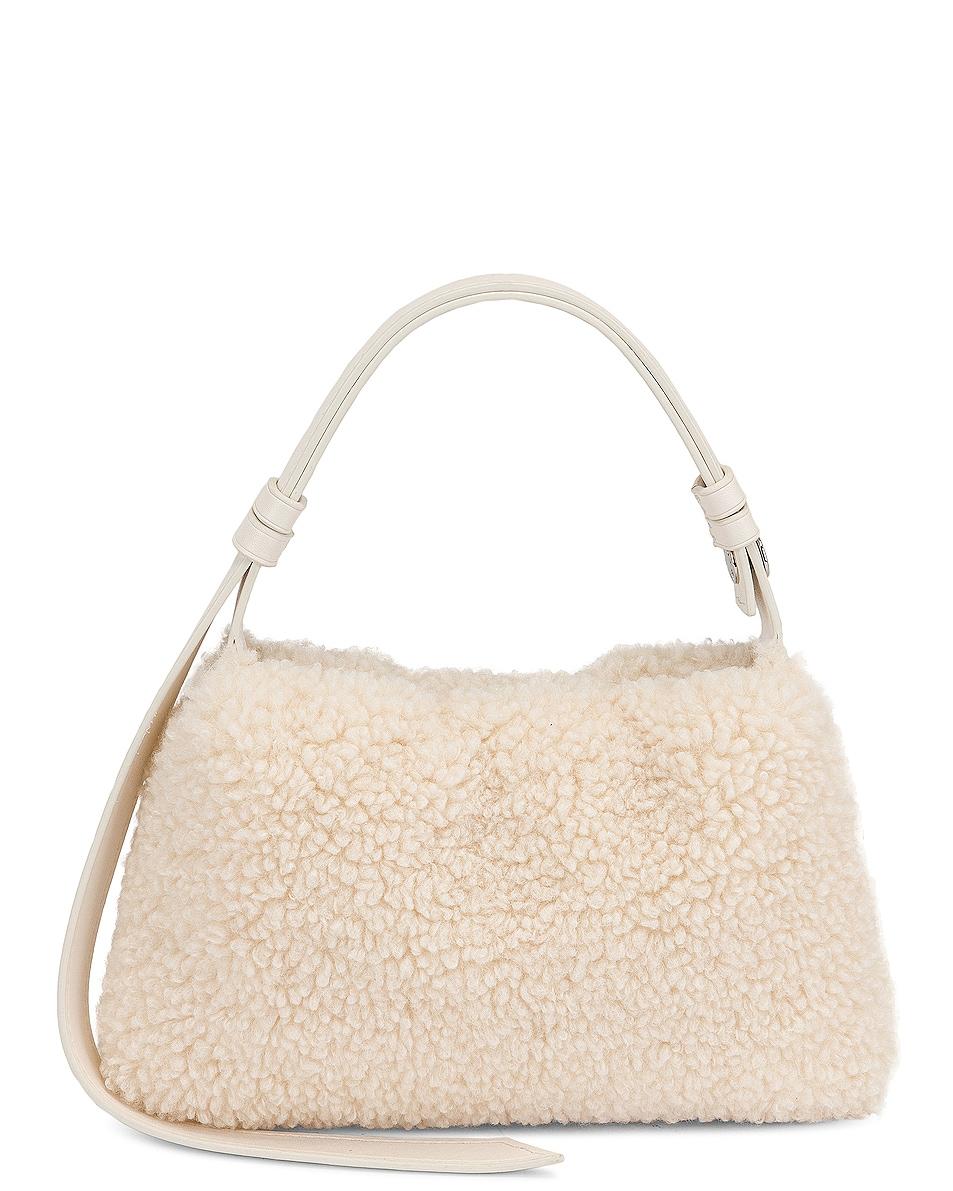 Image 1 of Simon Miller Mini Puffin Bag in Bone Vegan Shearling
