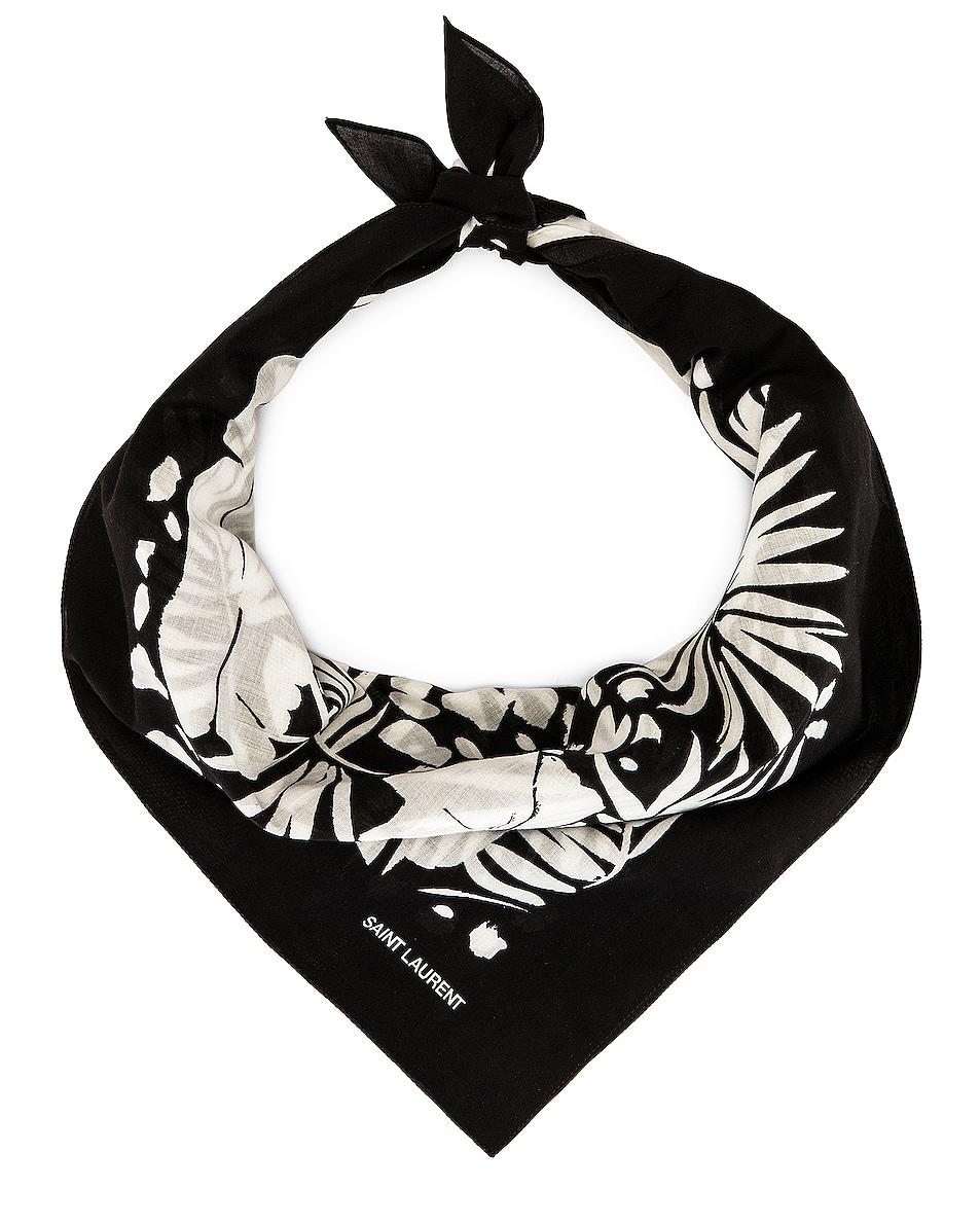 Image 1 of Saint Laurent Bandana in Black & White