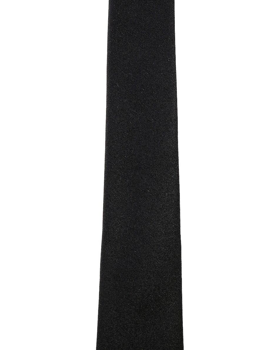 Image 2 of Saint Laurent Satin Tie in Black