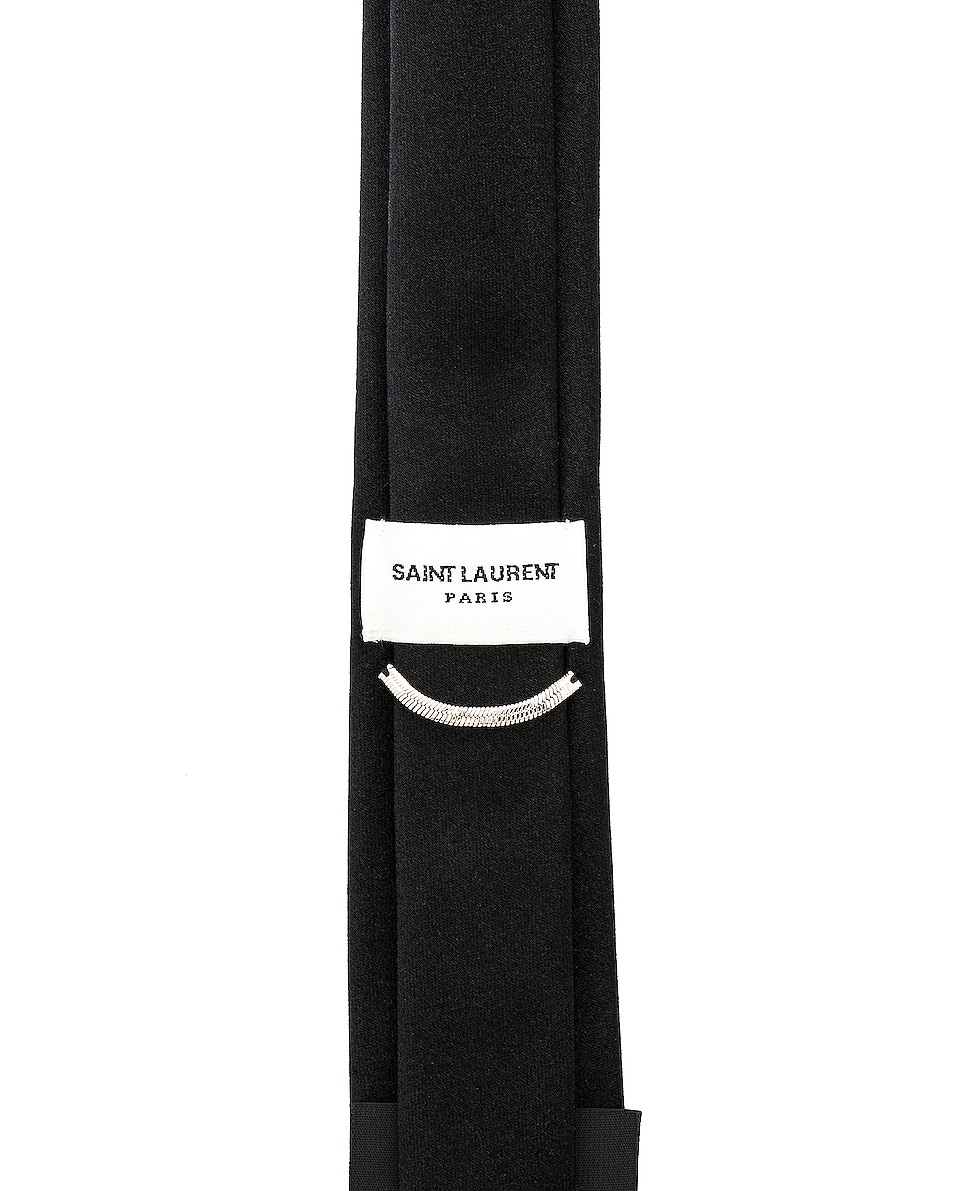 Image 3 of Saint Laurent Satin Tie in Black