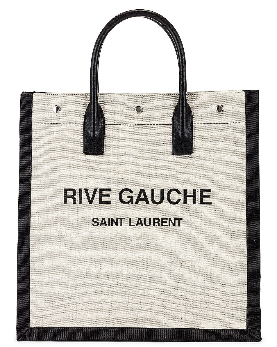 Image 1 of Saint Laurent YSL Tote Bag in White & Black