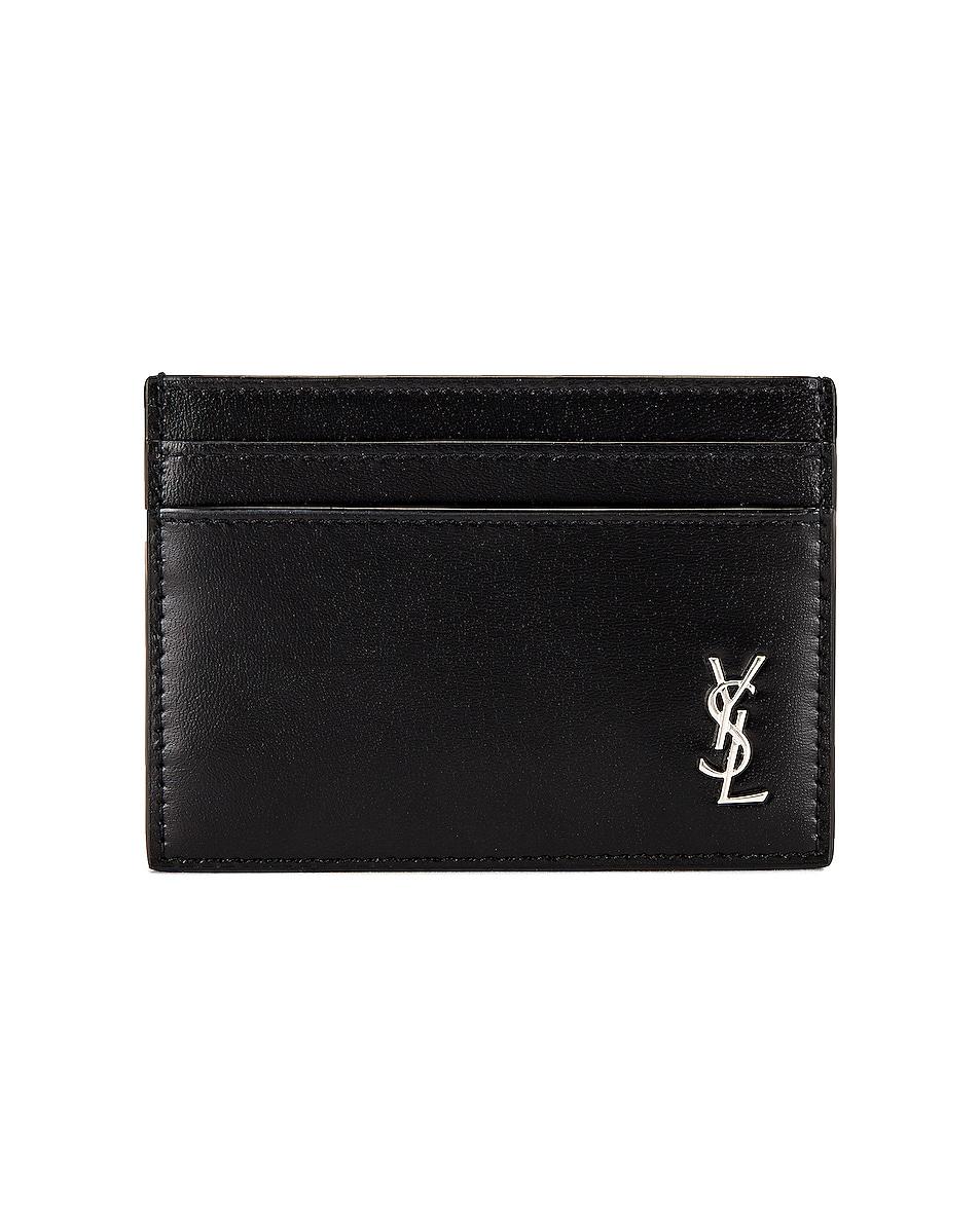 Image 1 of Saint Laurent YSL Credit Card Holder in Black