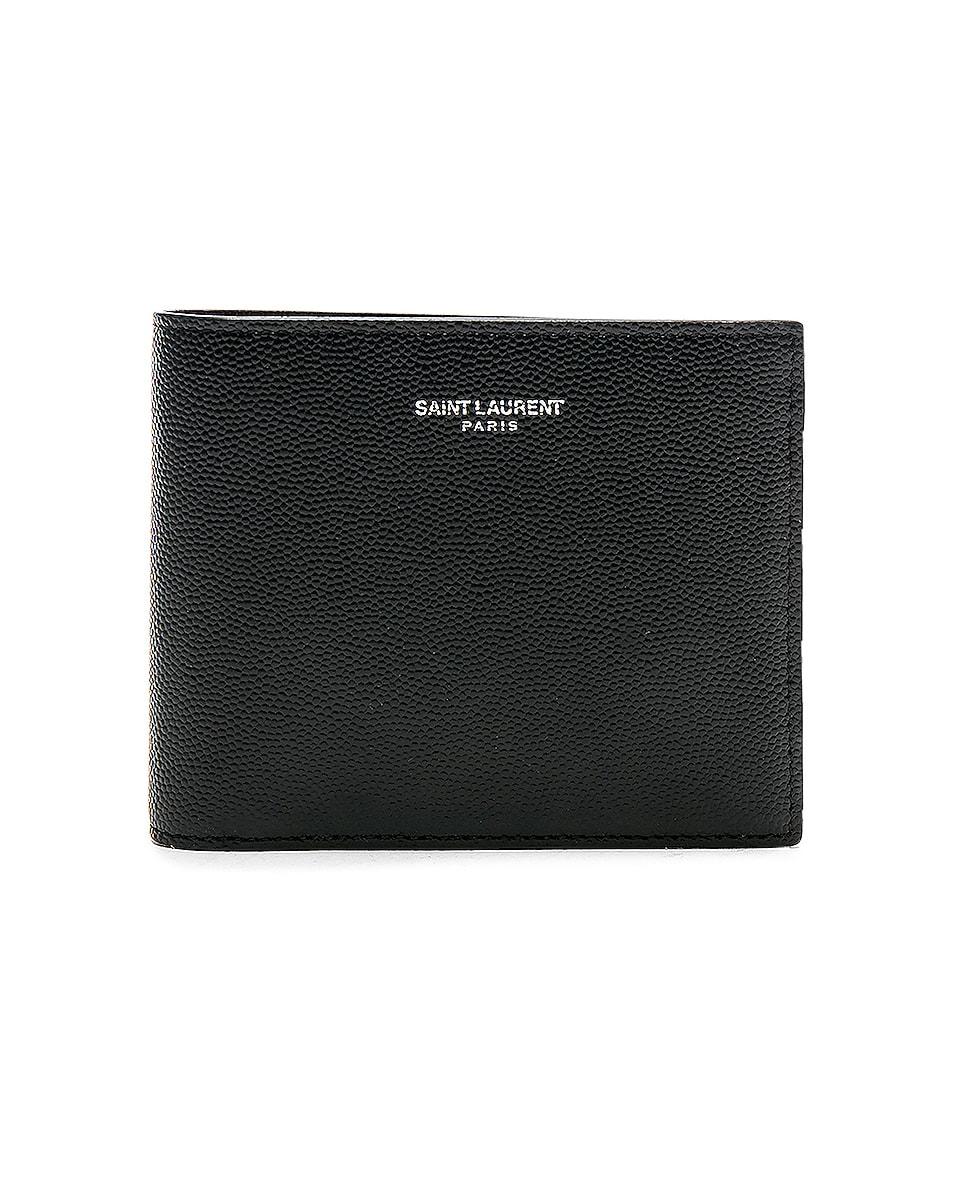 Image 1 of Saint Laurent Billfold Wallet in Black