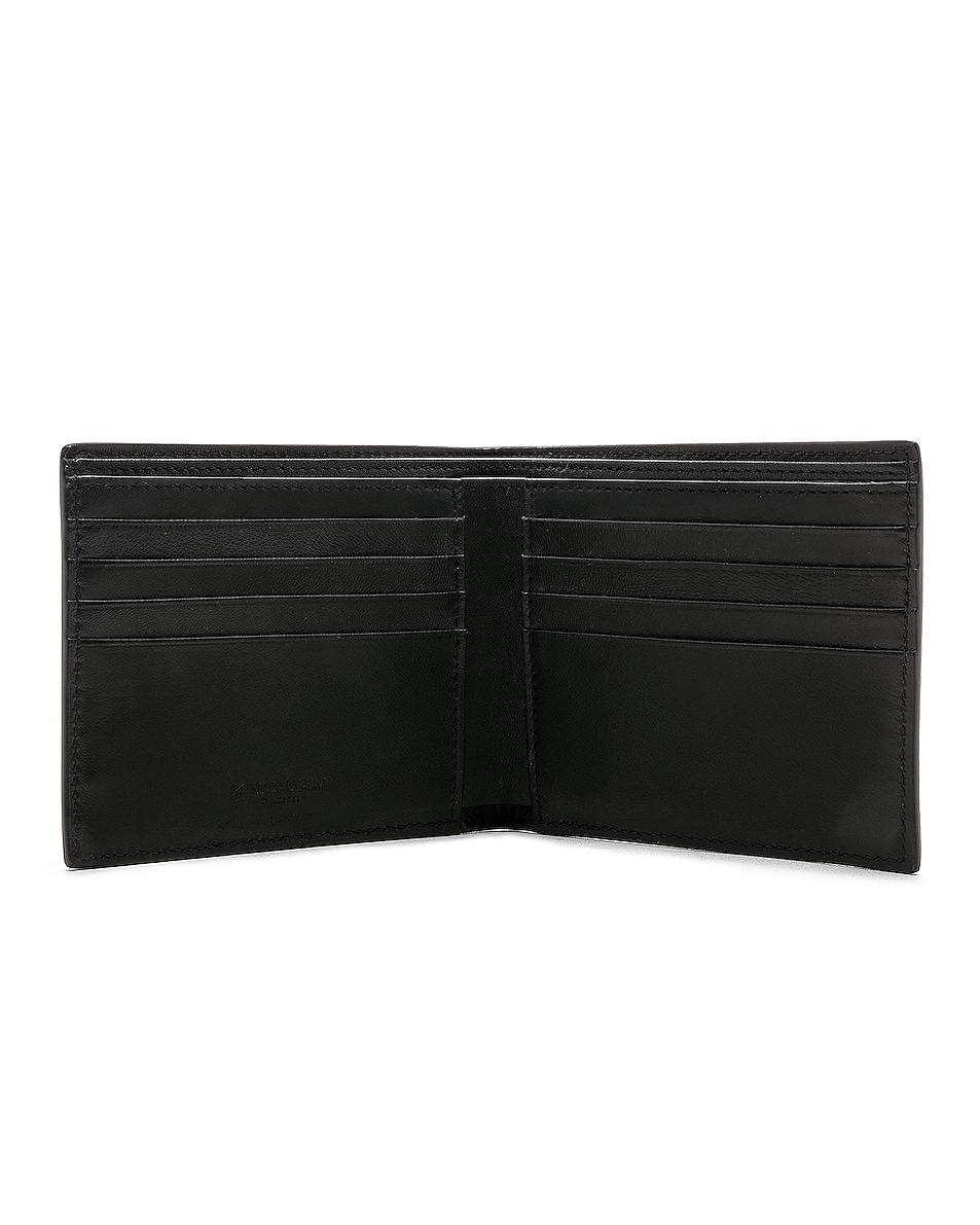 Image 4 of Saint Laurent Matte Croc Billfold Wallet in Black