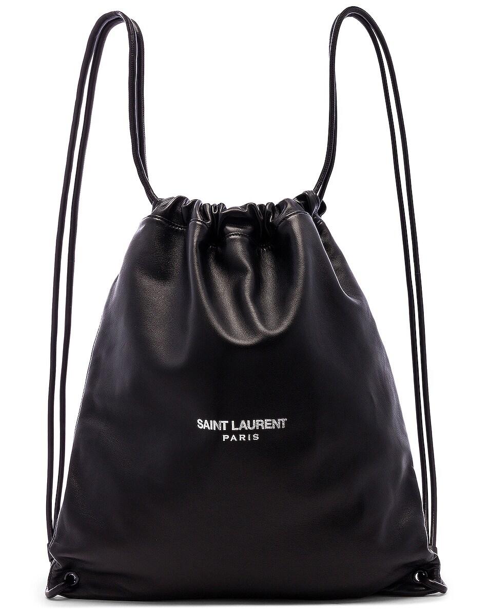 Image 1 of Saint Laurent Drawstring Backpack in Black