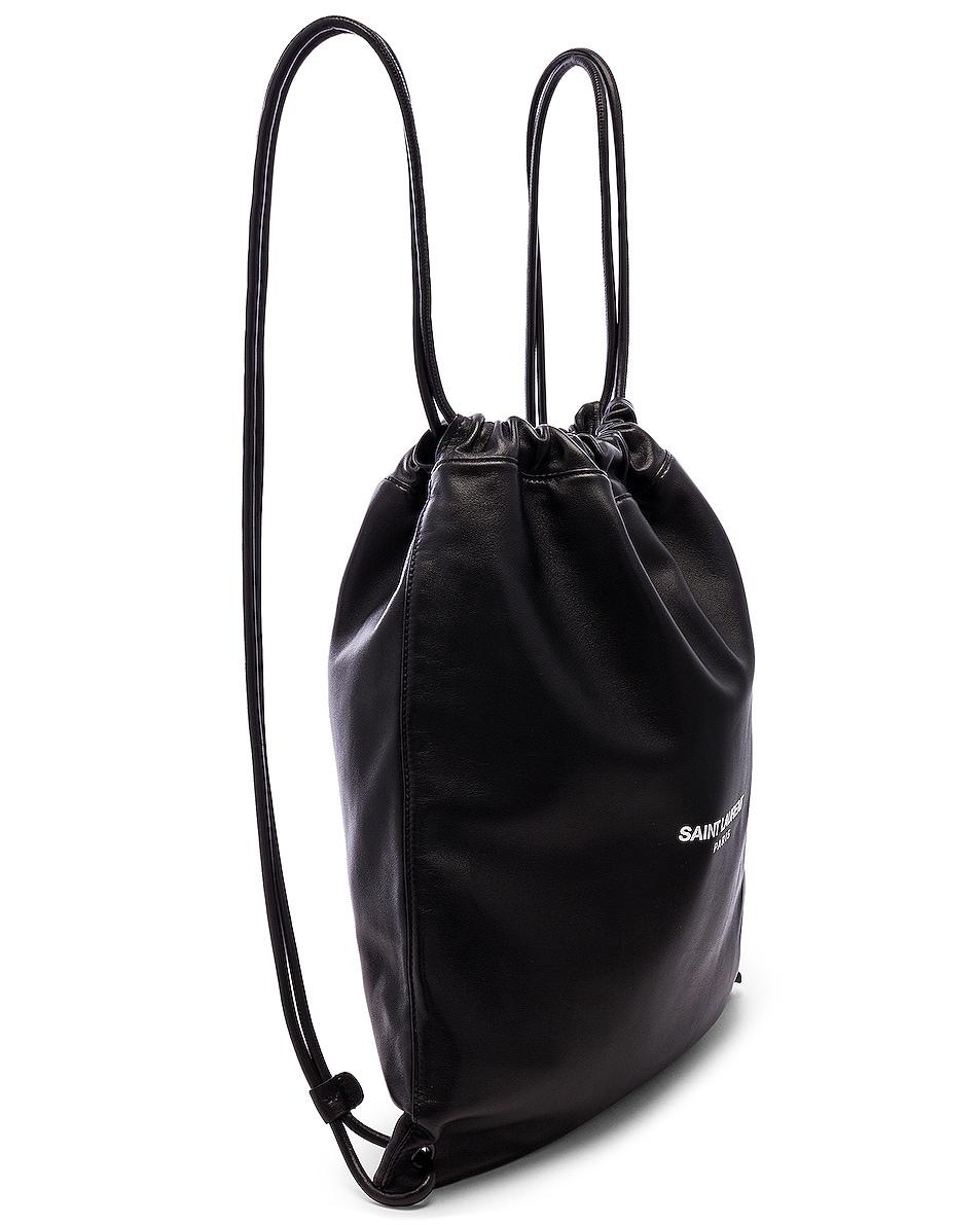Image 4 of Saint Laurent Drawstring Backpack in Black