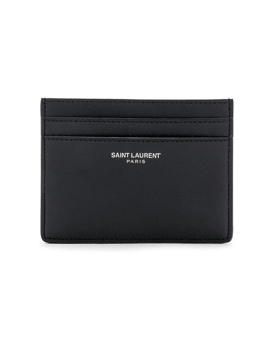 Image 1 of Saint Laurent Card Holder in Black