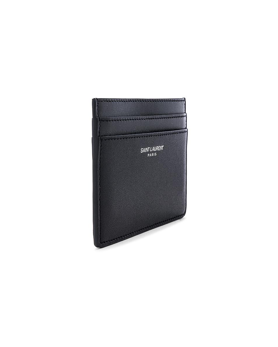 Image 3 of Saint Laurent Card Holder in Black