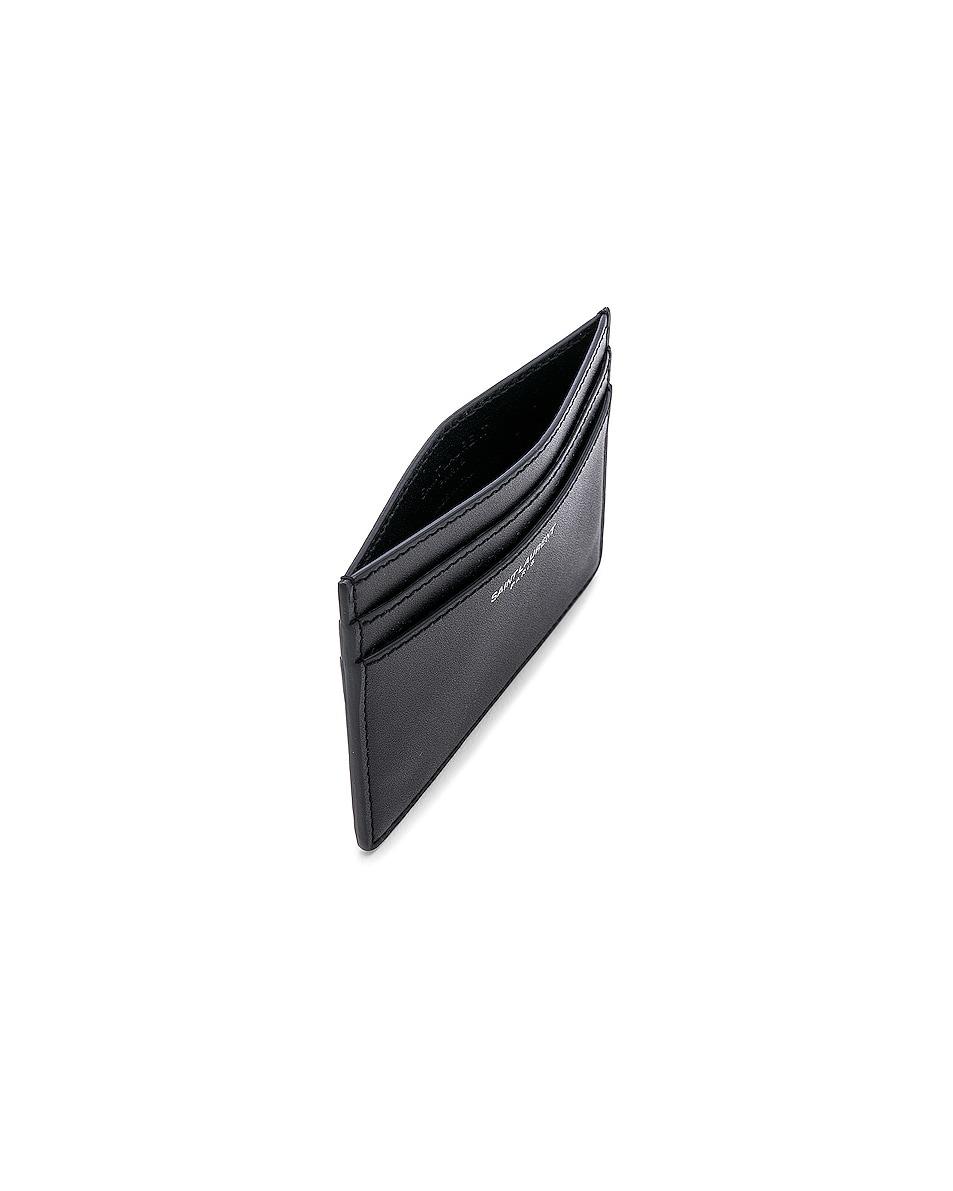 Image 4 of Saint Laurent Card Holder in Black