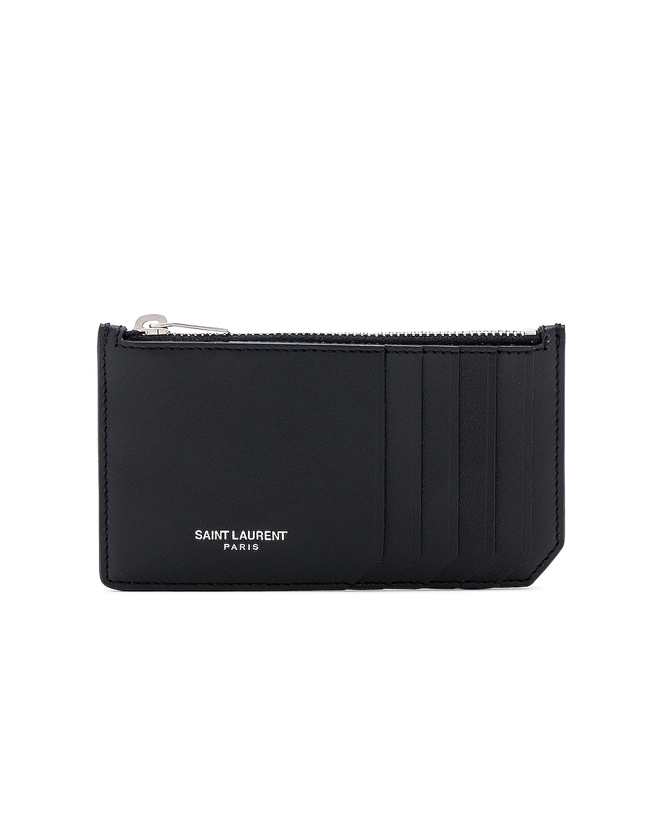 Image 1 of Saint Laurent Card Holder in Black
