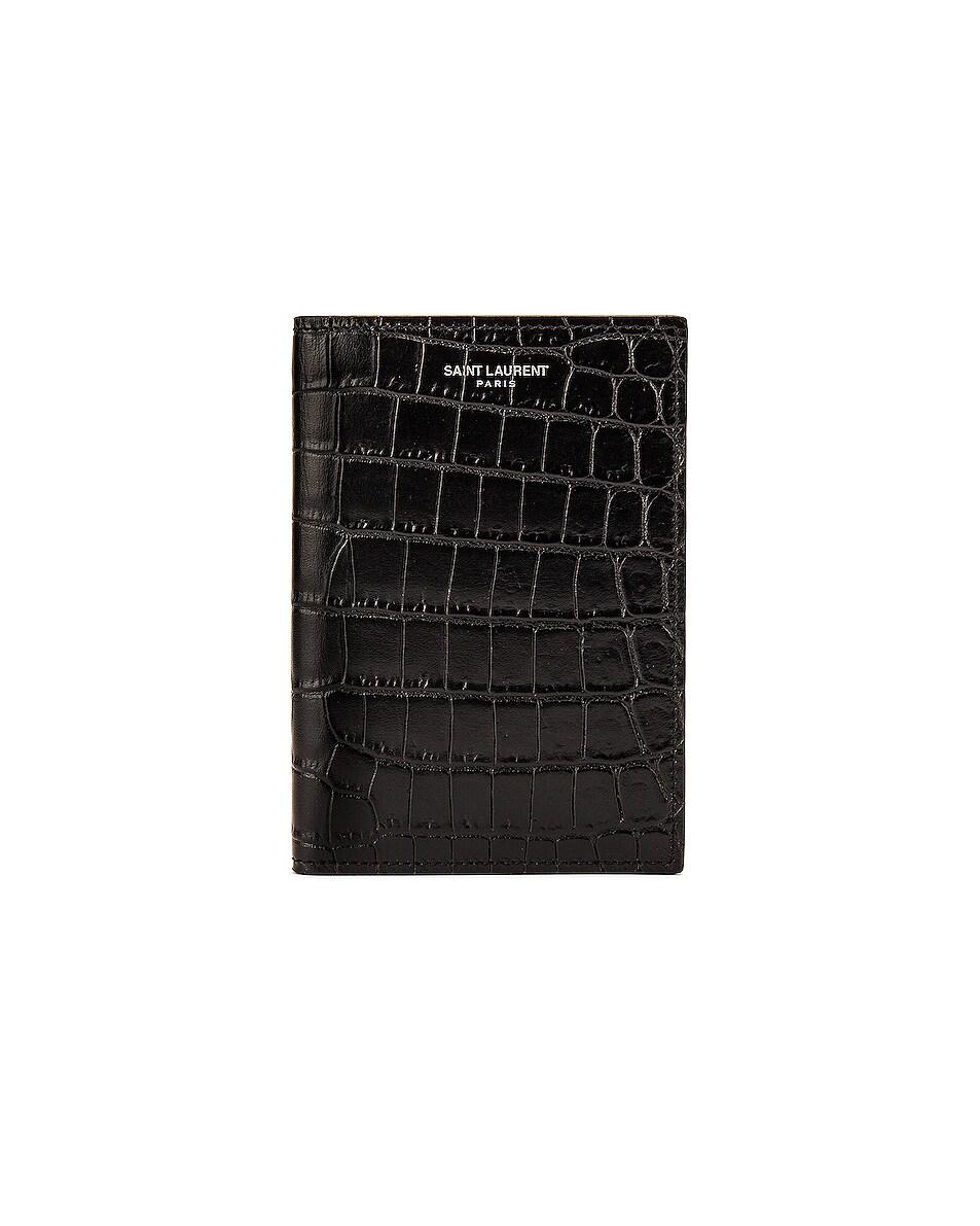 Image 1 of Saint Laurent Card Slots Passport Case in Black