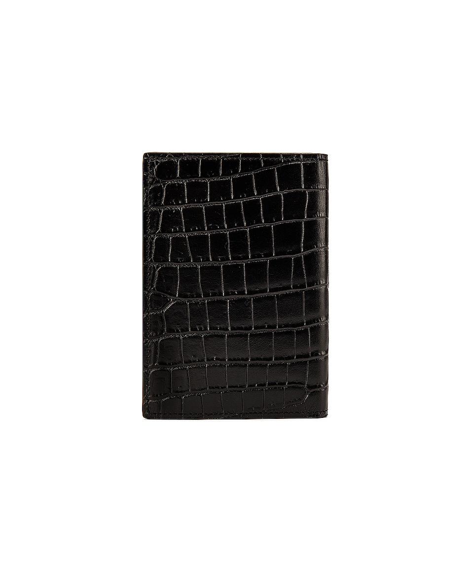 Image 2 of Saint Laurent Card Slots Passport Case in Black
