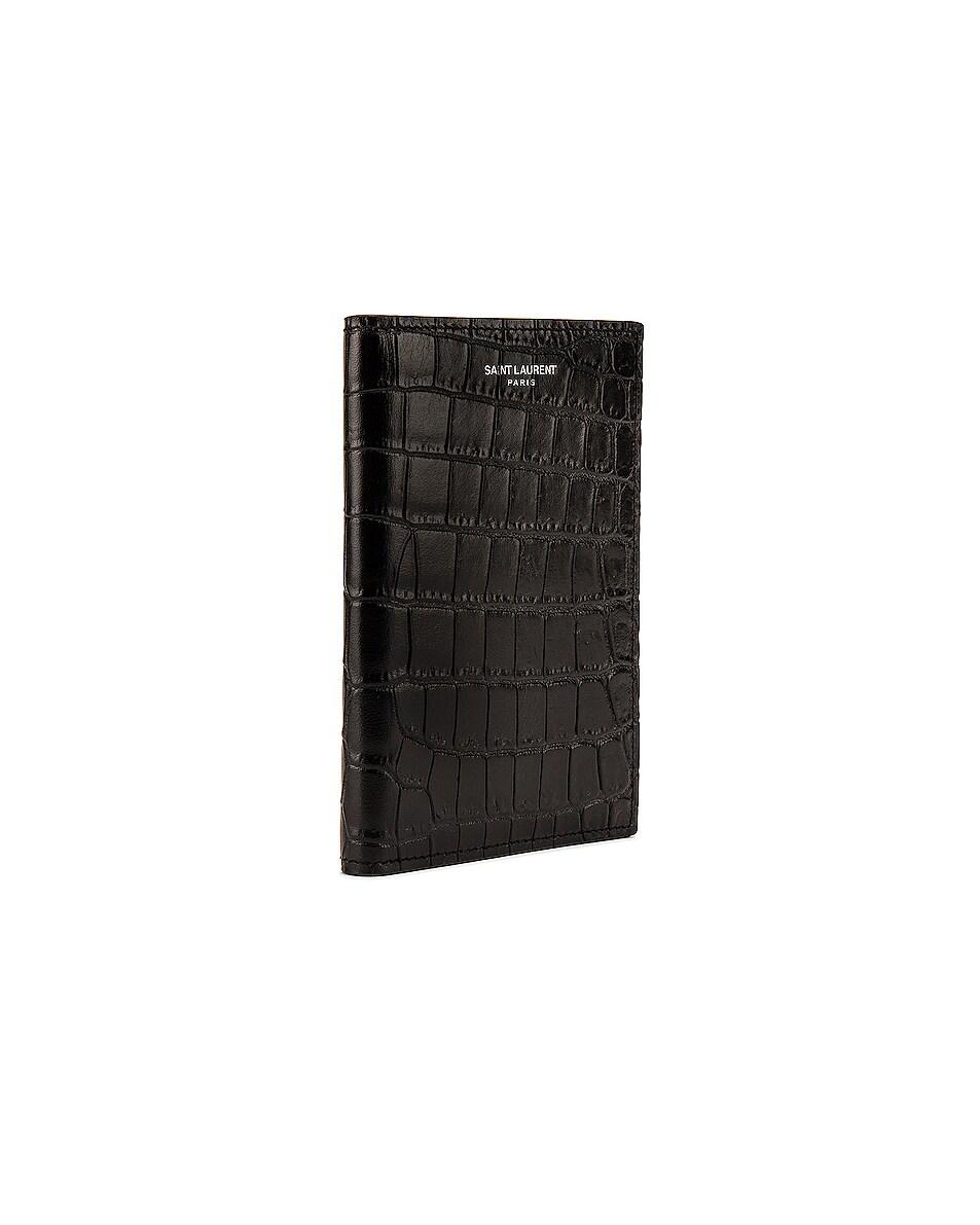 Image 3 of Saint Laurent Card Slots Passport Case in Black