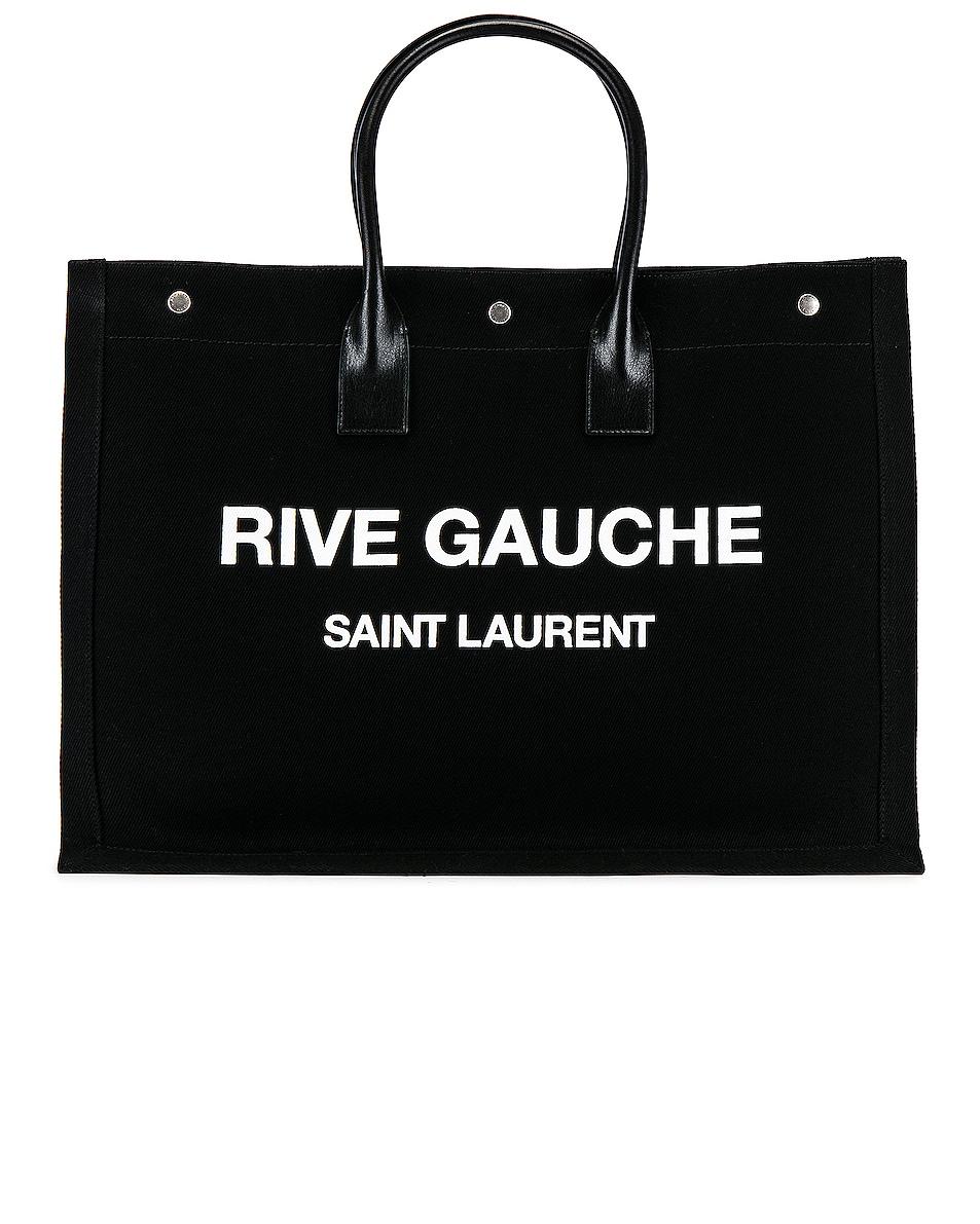 Image 1 of Saint Laurent Noe Large Tote Bag in Black & White