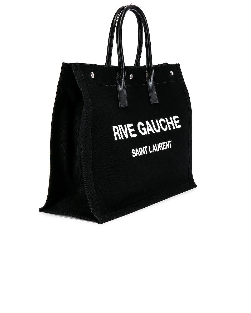Image 3 of Saint Laurent Noe Large Tote Bag in Black & White