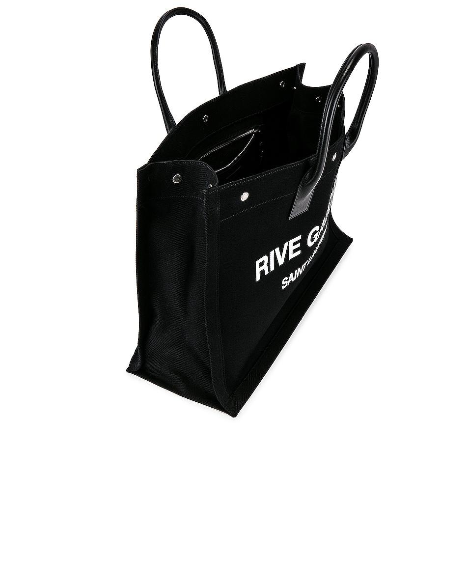 Image 4 of Saint Laurent Noe Large Tote Bag in Black & White