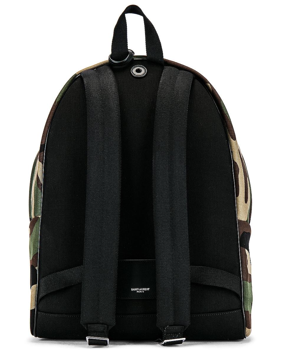 Image 2 of Saint Laurent City Backpack in Camo & Black