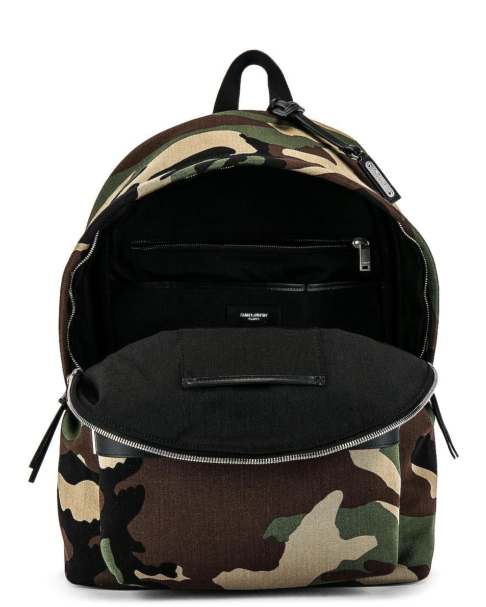 Image 4 of Saint Laurent City Backpack in Camo & Black