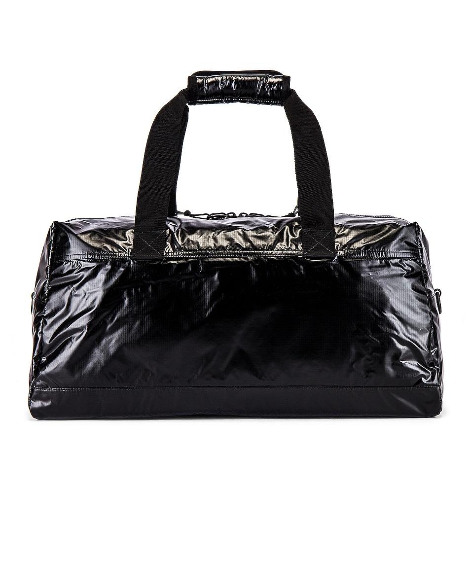Image 2 of Saint Laurent Nylon Ripstop Duffel Bag in Black & Platinum