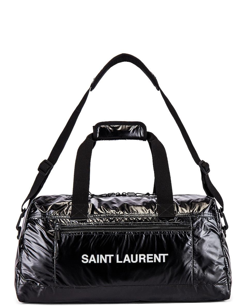 Image 5 of Saint Laurent Nylon Ripstop Duffel Bag in Black & Platinum