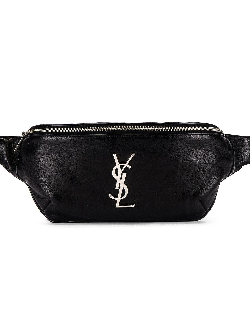Image 1 of Saint Laurent Logo Hip Bag in Black