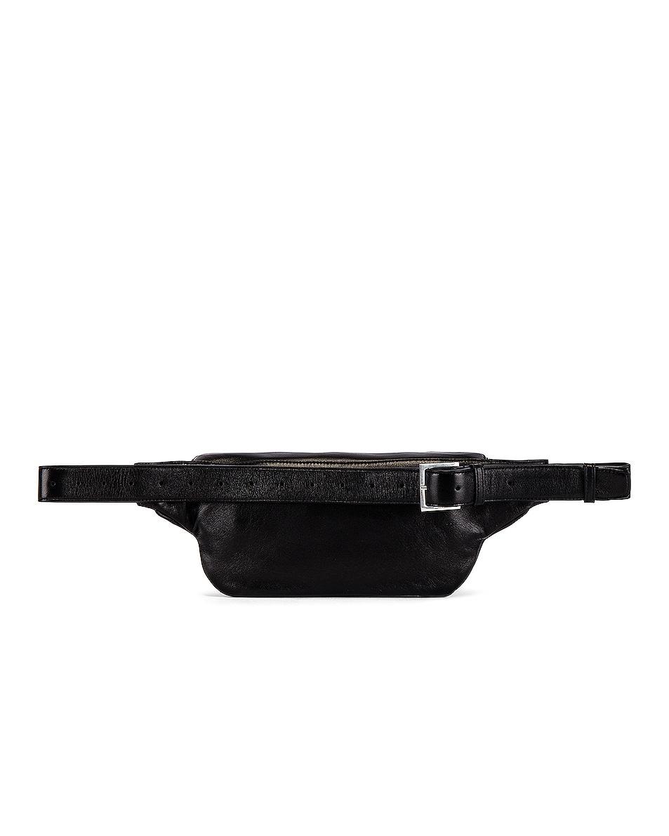 Image 3 of Saint Laurent Logo Hip Bag in Black