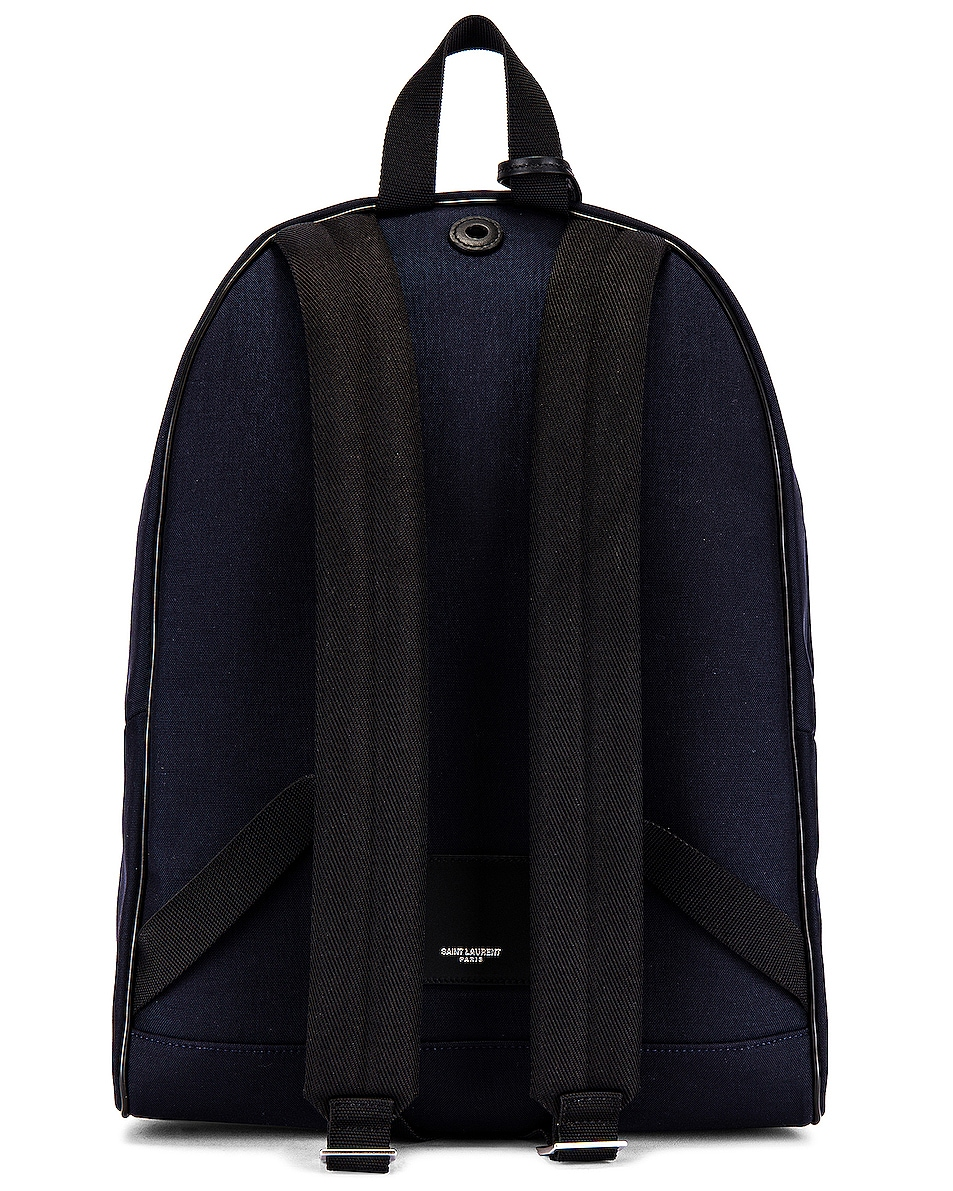 Image 2 of Saint Laurent City Backpack in Midnight Blue & Black