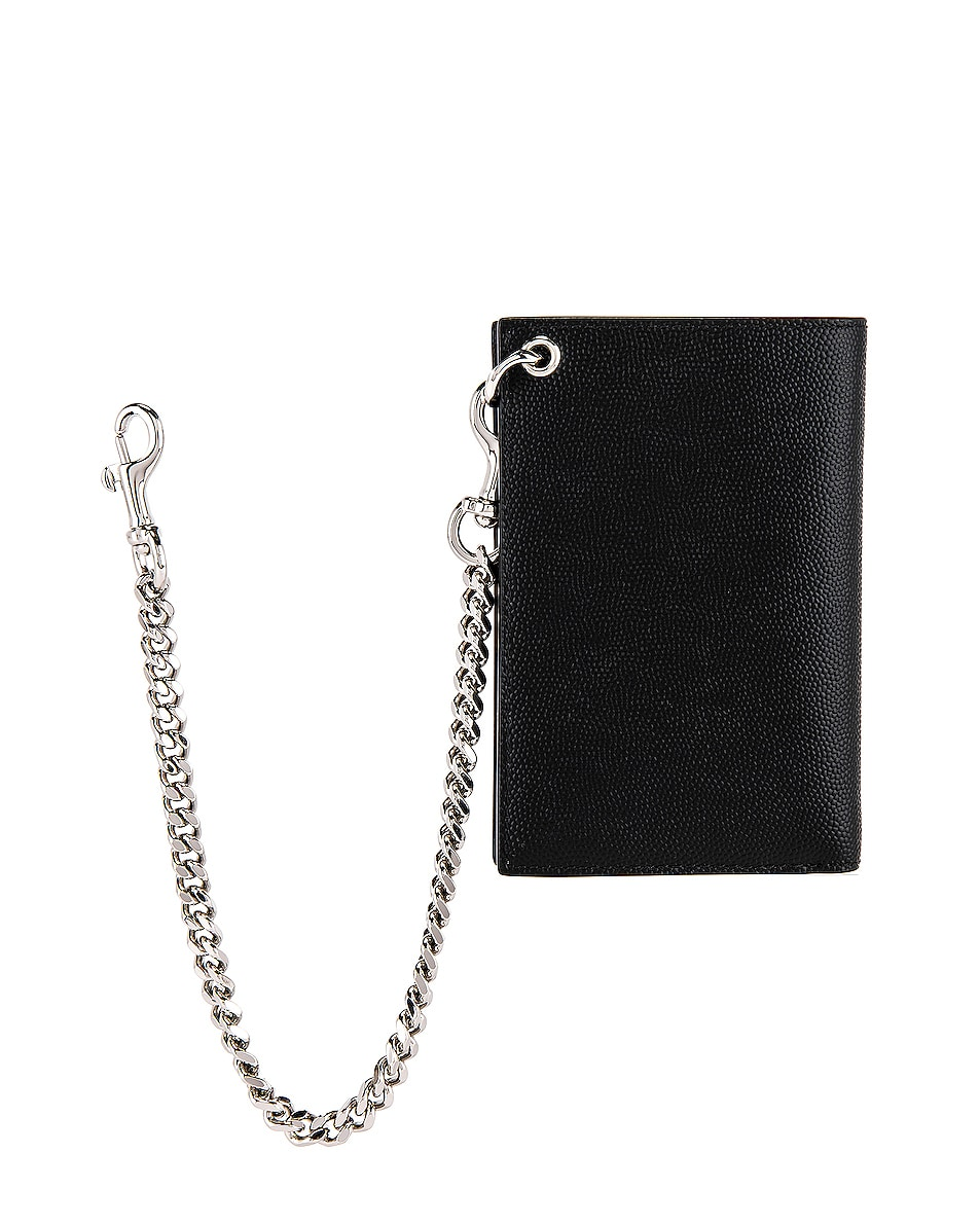 Image 2 of Saint Laurent North South Chain Wallet in Black