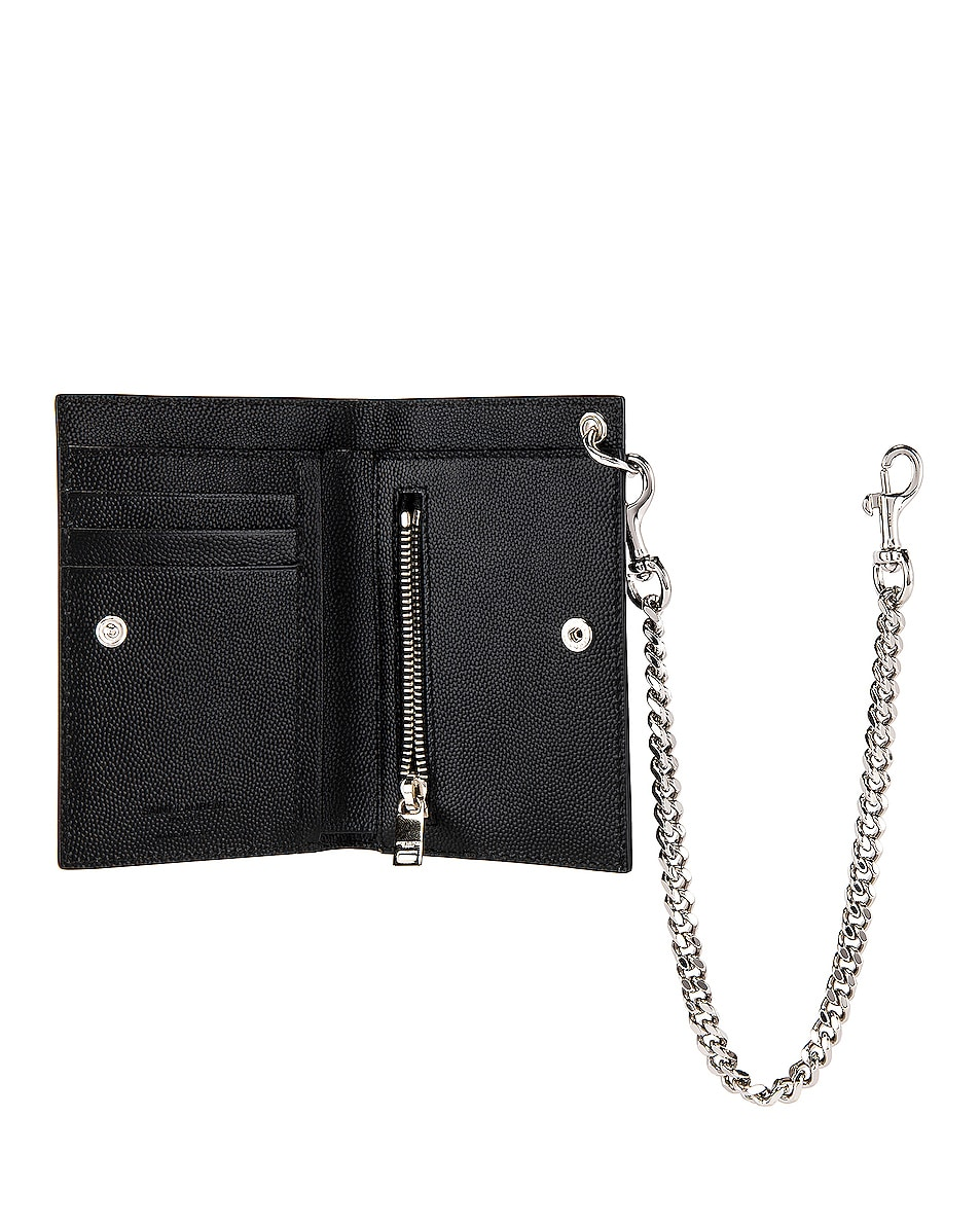 Image 4 of Saint Laurent North South Chain Wallet in Black