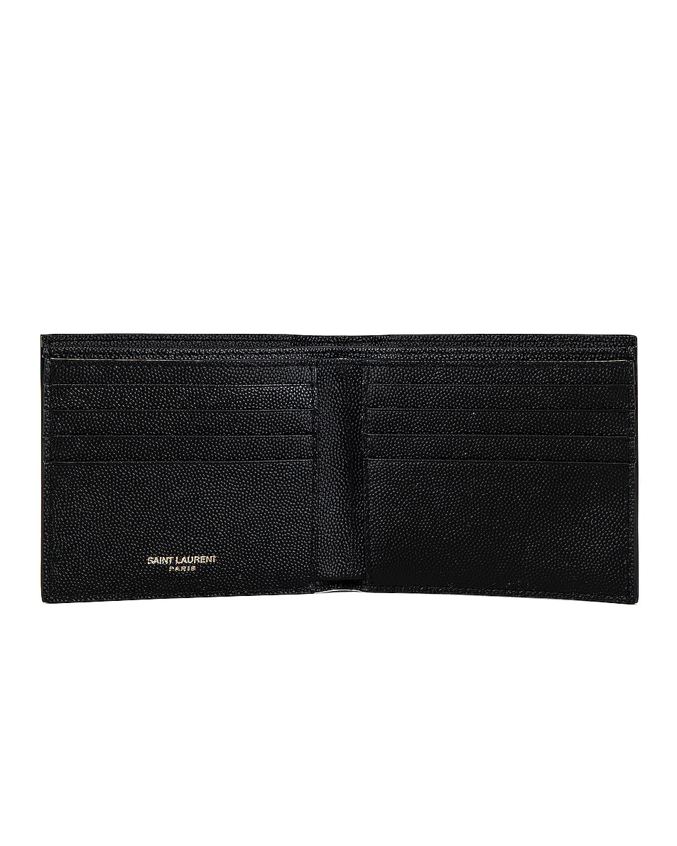 Image 4 of Saint Laurent East West Monogram Wallet in Black