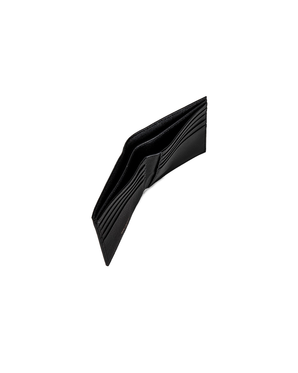 Image 5 of Saint Laurent East West Monogram Wallet in Black