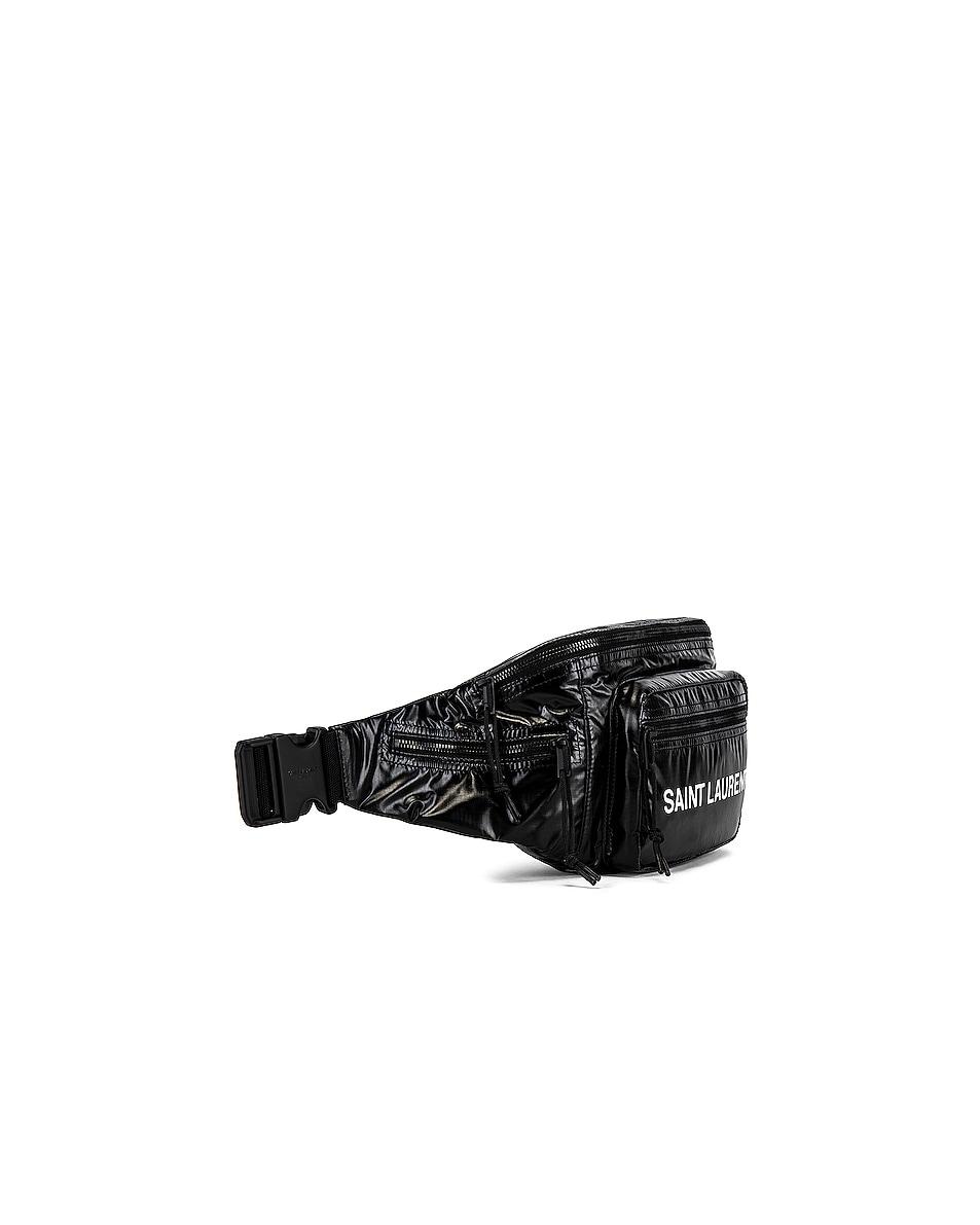 Image 3 of Saint Laurent Nylon Ripstop Bodybag in Black & Platinum