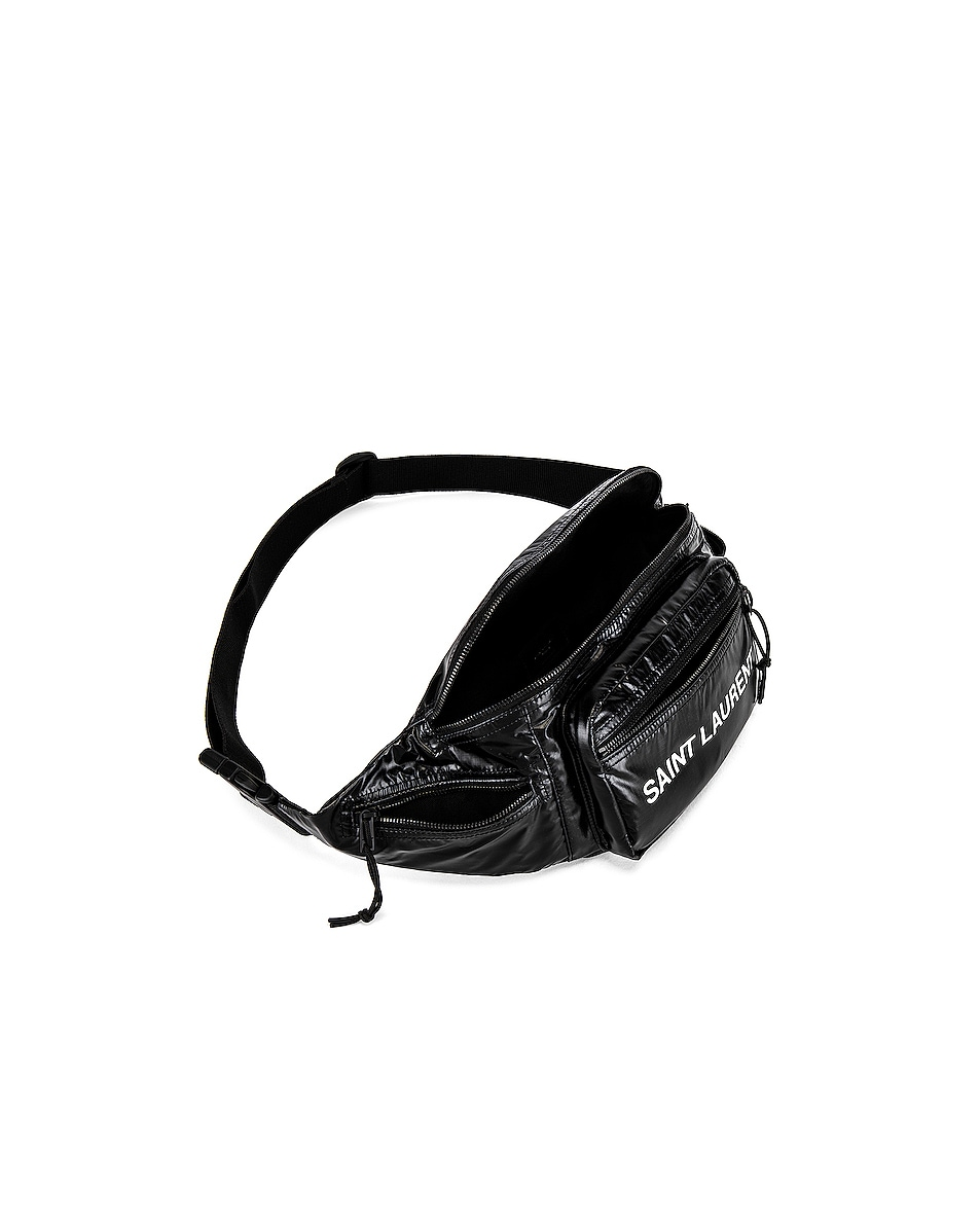 Image 4 of Saint Laurent Nylon Ripstop Bodybag in Black & Platinum