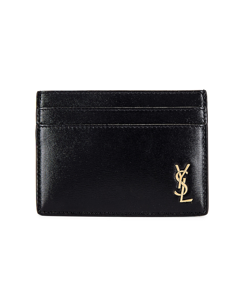 Image 1 of Saint Laurent Credit Card Holder in Black