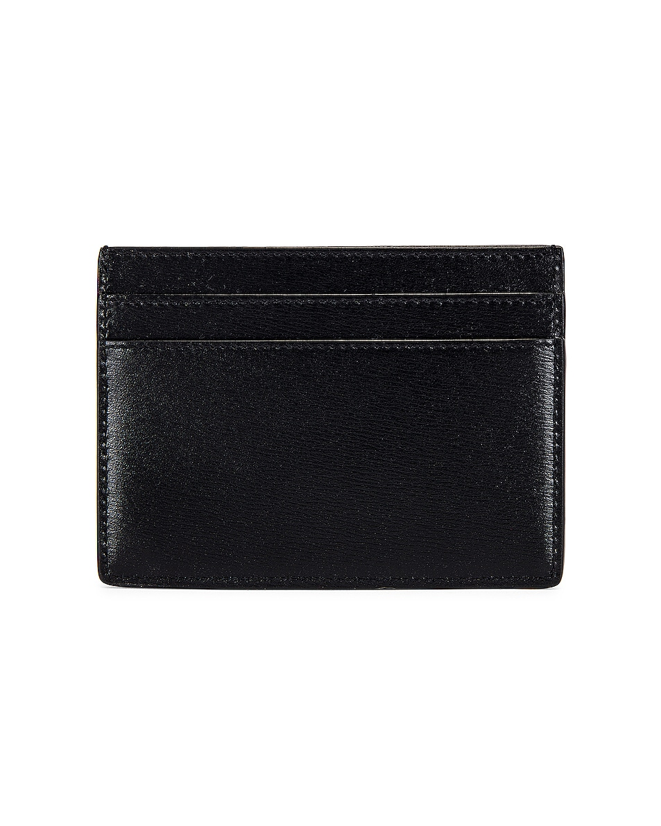 Image 2 of Saint Laurent Credit Card Holder in Black