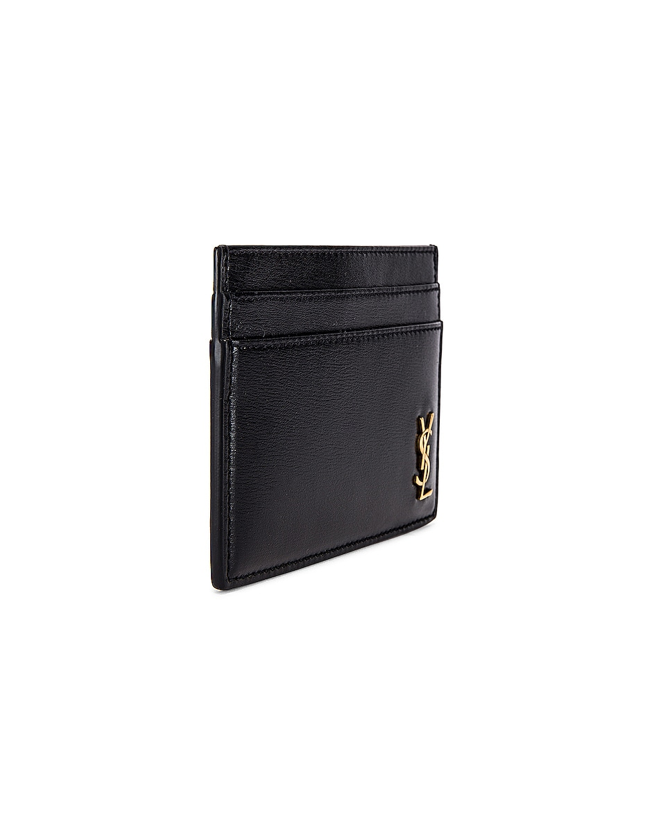Image 3 of Saint Laurent Credit Card Holder in Black